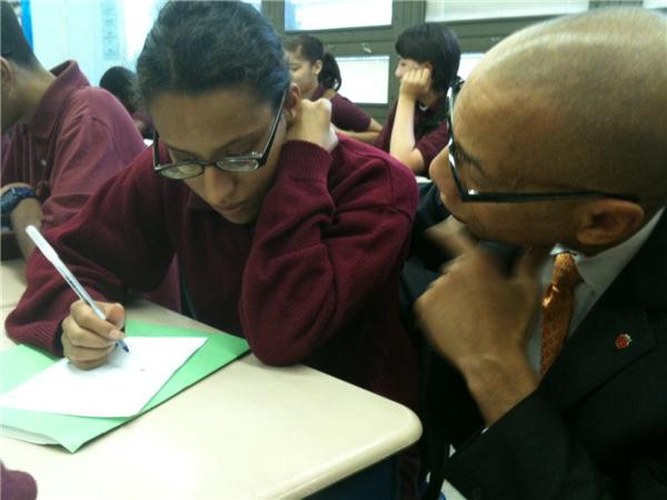 Chancellor Dennis Walcott Visits The Bronx Academy of Letters on