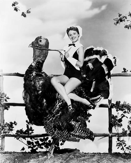 Starlet Rides Giant Turkey