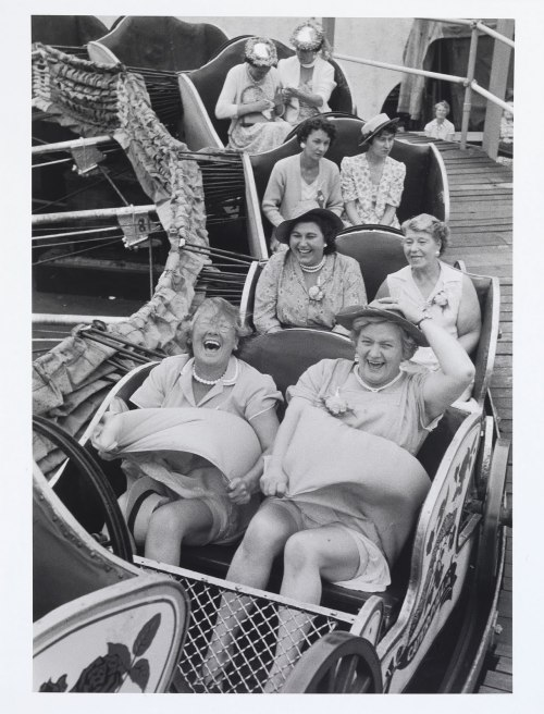 Lot 10 - Grace Robertson (British, born 1930) On the Caterpillar, London Women's Pub Outing (Clapham), 1956