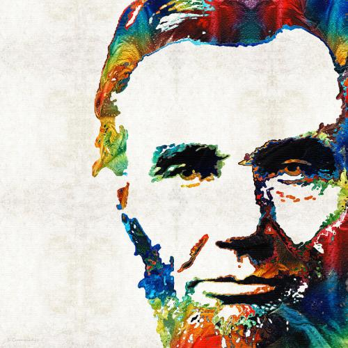 abraham-lincoln-art-colorful-abe-by-sharon-cummings-sharon-cummings