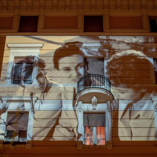Virus Outbrake Lucia Bose, Rome, Italy - 23 Mar 2020