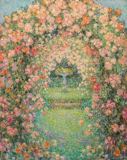 henri-le-sidaner-1862-1939-the-rose-garden-gerberoy-adam-asar